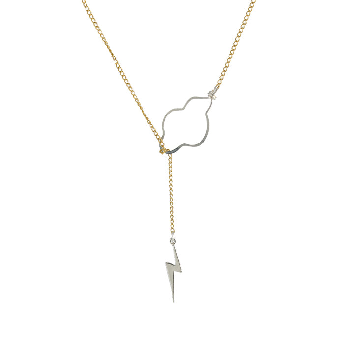 Weather the Storm Necklace silver bolt