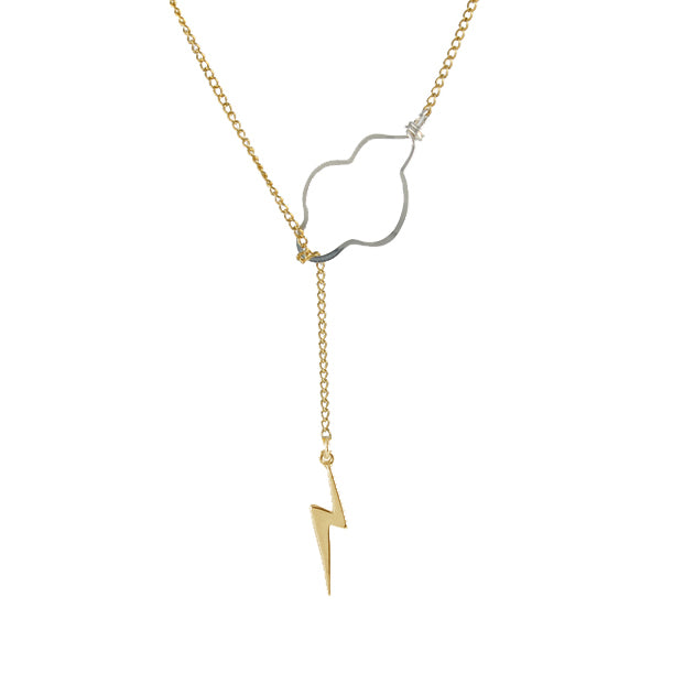 Weather the storm necklace gold bolt