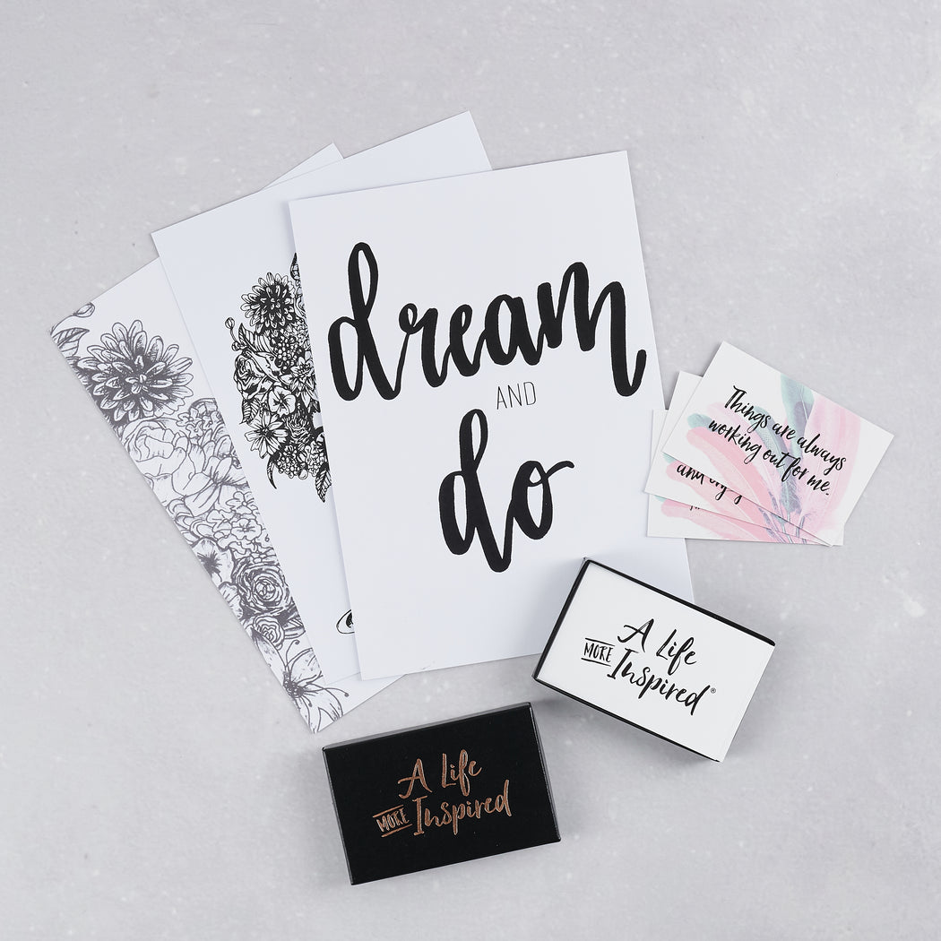 A Life More Inspired, Affirmation Cards & Prints