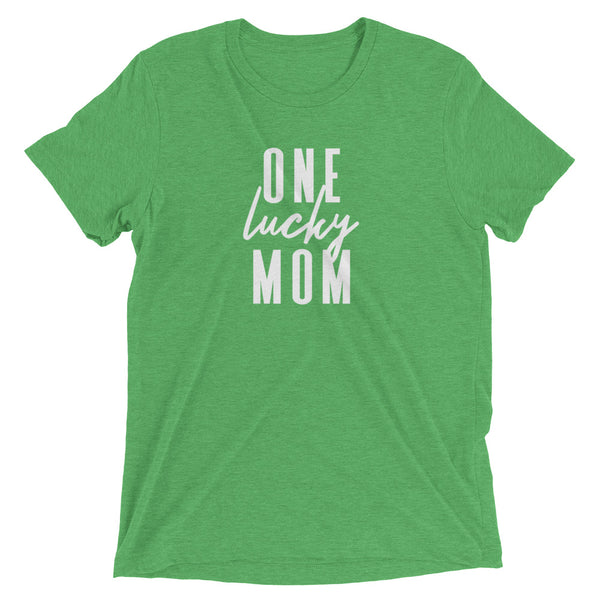 "St. Patrick's Day ""One Lucky Mom"" Short Sleeve T-Shirt"