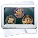 Armor of God Coin and Missionary Coin and Baptism Coin set