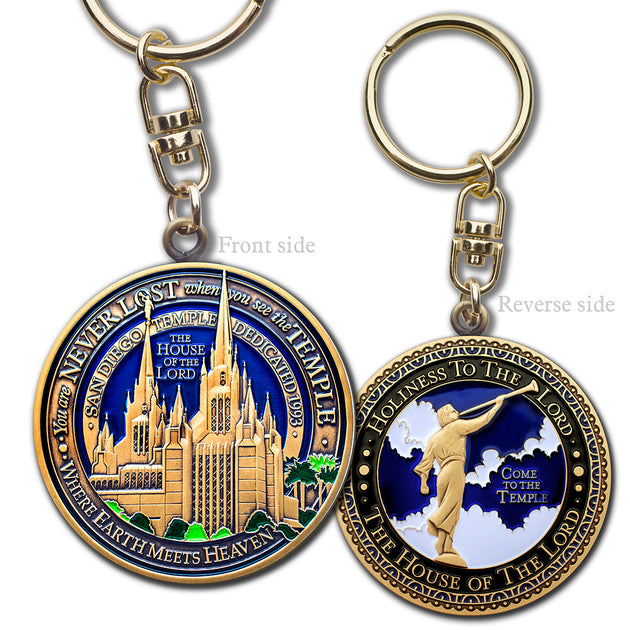 San Diego Temple Key Chain