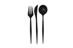 Modern Black Flatware, 24 pc