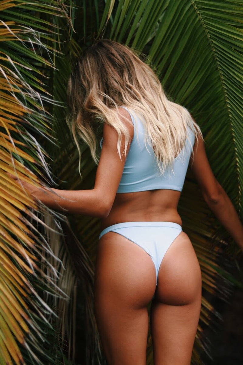 Havana Bottom | Powder Blue - Wave Babe Swimwear
