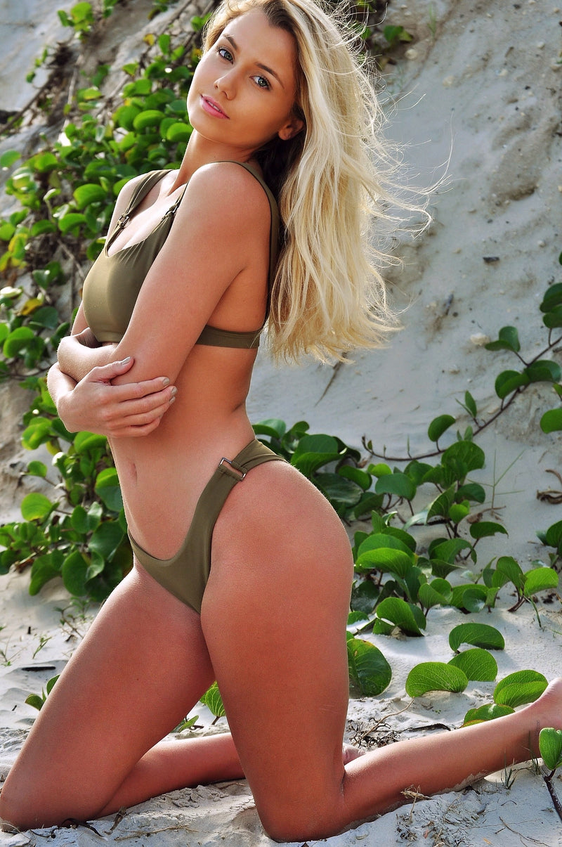 Sierra Top | Army - Wave Babe Swimwear