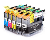 5 Pack Compatible Ink Cartridges Replacement for Brother LC203(B/C/M/Y)