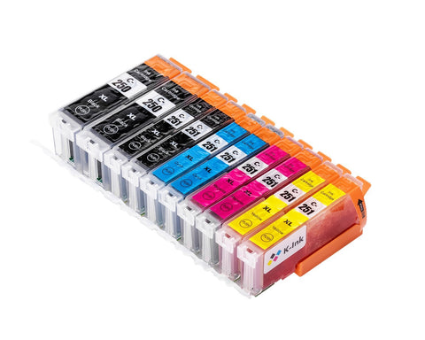 10 Pack Compatible Ink Cartridges Replacement for Canon PGI-250XL /CLI-251XL (LB/SB//C/M/Y)