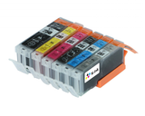 6 Pack Compatible Ink Cartridges Replacement for Canon PGI250/CLI-251 (LB/SB/C/M/Y/G)