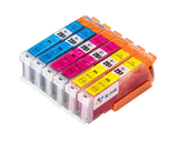 6 Pack Compatible Color Ink Cartridges Replacement for Canon PGI250/CLI-251 C/M/Y)