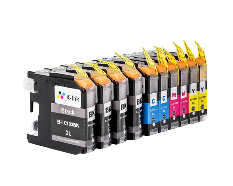 10 Pack Compatible Ink Cartridges Replacement for Brother LC103(B/C/M/Y)