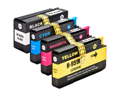 4 Pack Compatible Ink Cartridges Replacement for HP 950XL/951XL (B/C/M/Y)