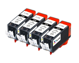 4 Pack Compatible Ink Cartridges Replacement for Canon PGI 220 (4 Large Black)