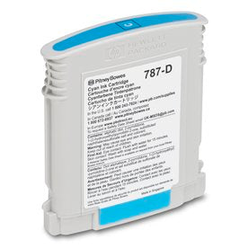 Genuine Pitney Bowes 787-D Cyan Ink Cartridge (Standard) for SendPro P and Connect+ Series Mailing Systems
