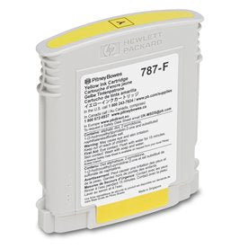 Genuine Pitney Bowes 787-F Yellow Ink Cartridge (Standard) for the SendPro P and Connect+ Series Postage Meters