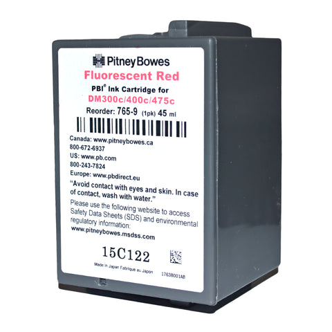 Genuine Pitney Bowes 765-9 Ink for DM300c, 400c, 450c, 475c and G900 Postage Meters