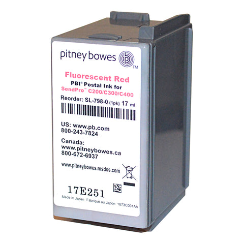 Genuine Pitney Bowes SL-798-0 Ink For SendPro C200, C300, and C400 Postage Meters
