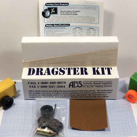 Balsa Dragster Kit (Co2) - Co2 Dragster Product Line - Activity Based Supplies