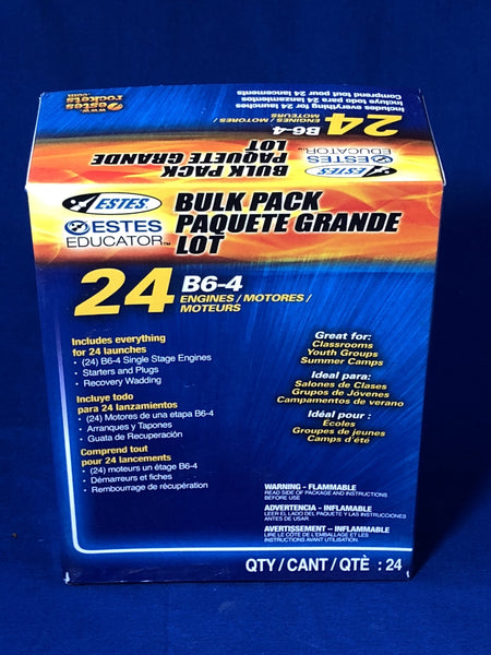 Estes B6-4 Engines (Bulk Pack of 24) - Rockets - Activity Based Supplies