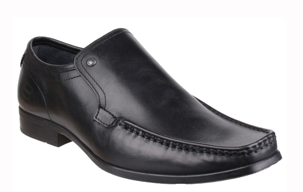 Base London Carnoustie Mens Formal Slip On Shoe Black Waxy