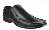Base London Carnoustie Excel Mens Formal Slip On Shoe Black Waxy