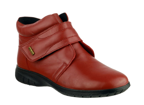 Cotswold Chalford Womens Waterproof Touch Fastening Casual Boot Red