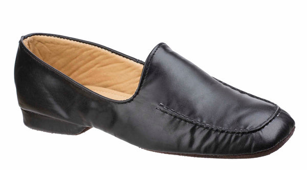 Cincasa Manuel Mens Full Leather Slipper Black