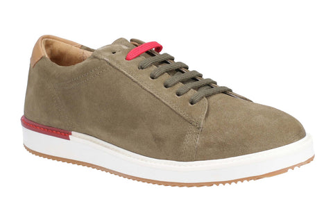 Hush Puppies Heath BouncePLUS Lace Up Shoe Olive Suede