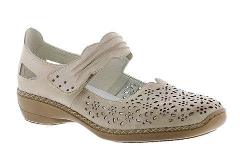 Rieker 413G7 Womens Touch Fastening Mary Jane Casual Shoe