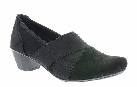 Rieker 41772 Womens Suede Effect Slip On Court Shoe