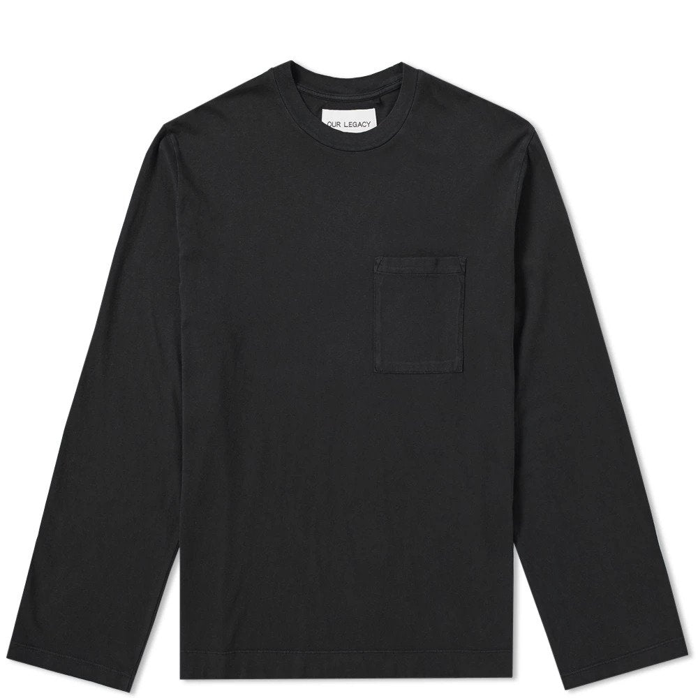 Our Legacy Box Longsleeve Black Army Jersey