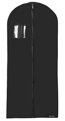 "New Breathable 54"" Suit/Dress Black Garment Bag by Bags for LESSTM"