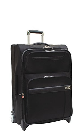 Samboro Executive Lite Lightweight Luggage 26 Inches Exp. Upright Pullman - Black Color
