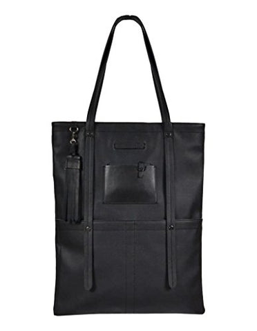 Sherpani Hadley Leather Everyday Tote Bag (Jet)