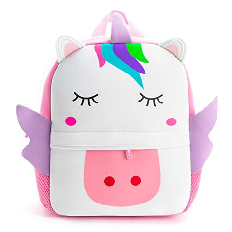 Nice Choice Toddler Backpack Large-Size Unicorn Animal Cartoon Pre-School Backpack Daycare Bag For Girl Boy 3-6 Years, Unicorn