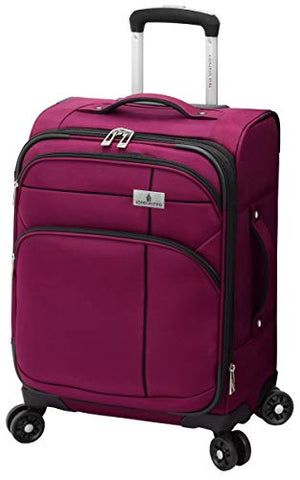 "London Fog Cranford 20"" Expandable Carry-on Spinner, Cranberry"