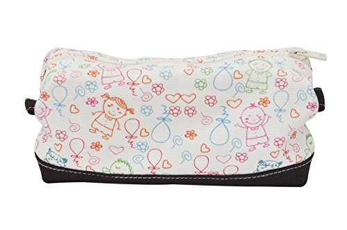 Vietsbay'S Women Lovely Kidsprint Canvas Toiletry Bag Makeup Cosmetic Pouch
