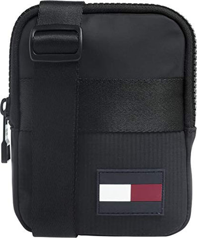Tommy Hilfiger Compact Xover Sports Tape, Men's Top-Handle Bag, Black, 2x17x13 cm (B x H T)