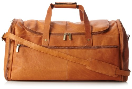 David King & Co. Extra Large Multi Pocket Duffel, Tan, One Size