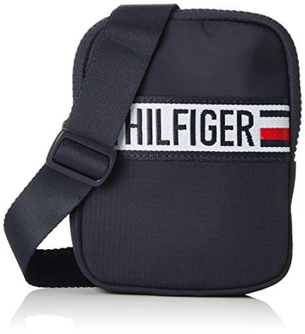 Tommy Hilfiger Compact Xover Sports Tape, Men's Top-Handle Bag, Blue (Tommy Navy), 2x17x13 cm (B x H T)