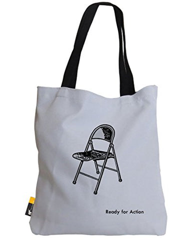 Iconic Art Summer Tote Bag - White Pop Art Beach Bag | Ubu Republic