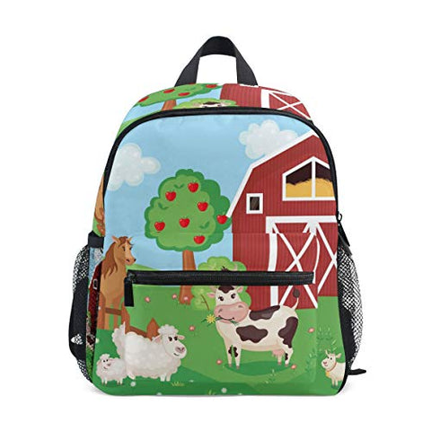 ColourLife Kids Preschool Book bag Farm Animals Backpack School Bag for Girls Boys