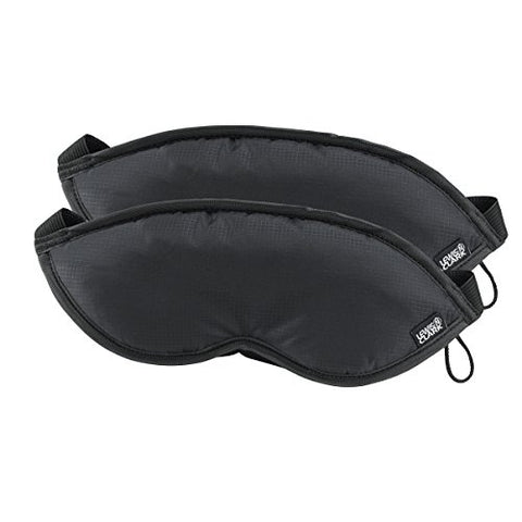 Lewis N. Clark Comfort Eye Mask With Adjustable Straps Blocks Out All Light ,  Black,  One Size,