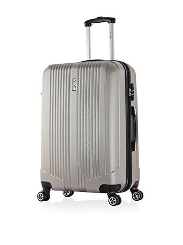 Inusa San Francisco 22-Inch Lightweight Hardside Spinner Suitcase - Champagne