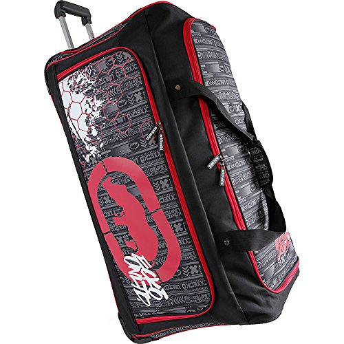 "Ecko Unltd. Men's Tagger Large 32"" Rolling Duffel Bag, Black/Red One Size"