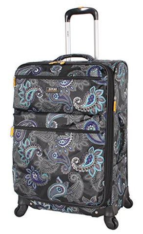 "Lucas Printed Softside 28"" Large Lightweight Expandable Luggage With Spinner Wheels (28In, Diva)"