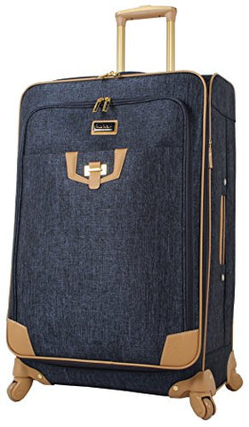"Nicole Miller Paige Collection 24"" Expandable Luggage Spinner (Navy)"