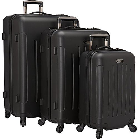 Heritage Lincoln Park 3 Piece Luggage Set, Black