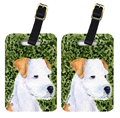 Caroline's Treasures SS8728BT Pair of 2 Jack Russell Terrier Luggage Tags, Large, multicolor