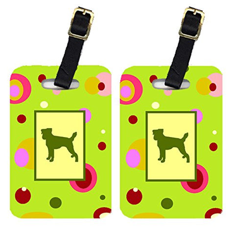Caroline's Treasures CK1041BT Pair of 2 Jack Russell Terrier Luggage Tags, Large, multicolor