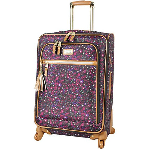 Steve Madden Midsize Softside Expandable Luggage With Spinner Wheels (24In, Dark Purple)